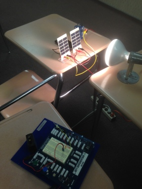 Using solar power to run a motor