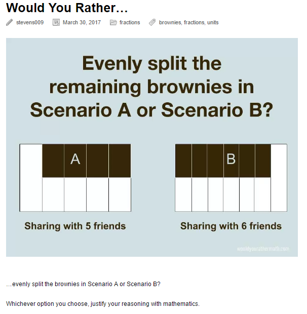 Would You Rather Brownies