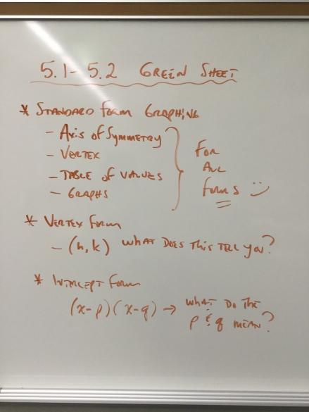 Green Sheet 5.1 - 5.2