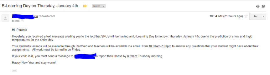 E-Learning Day email