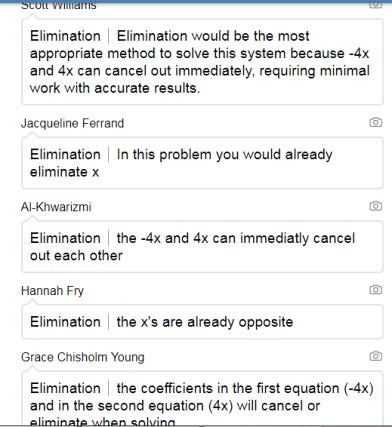 Explain Elimination