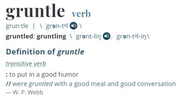 Gruntle Definition