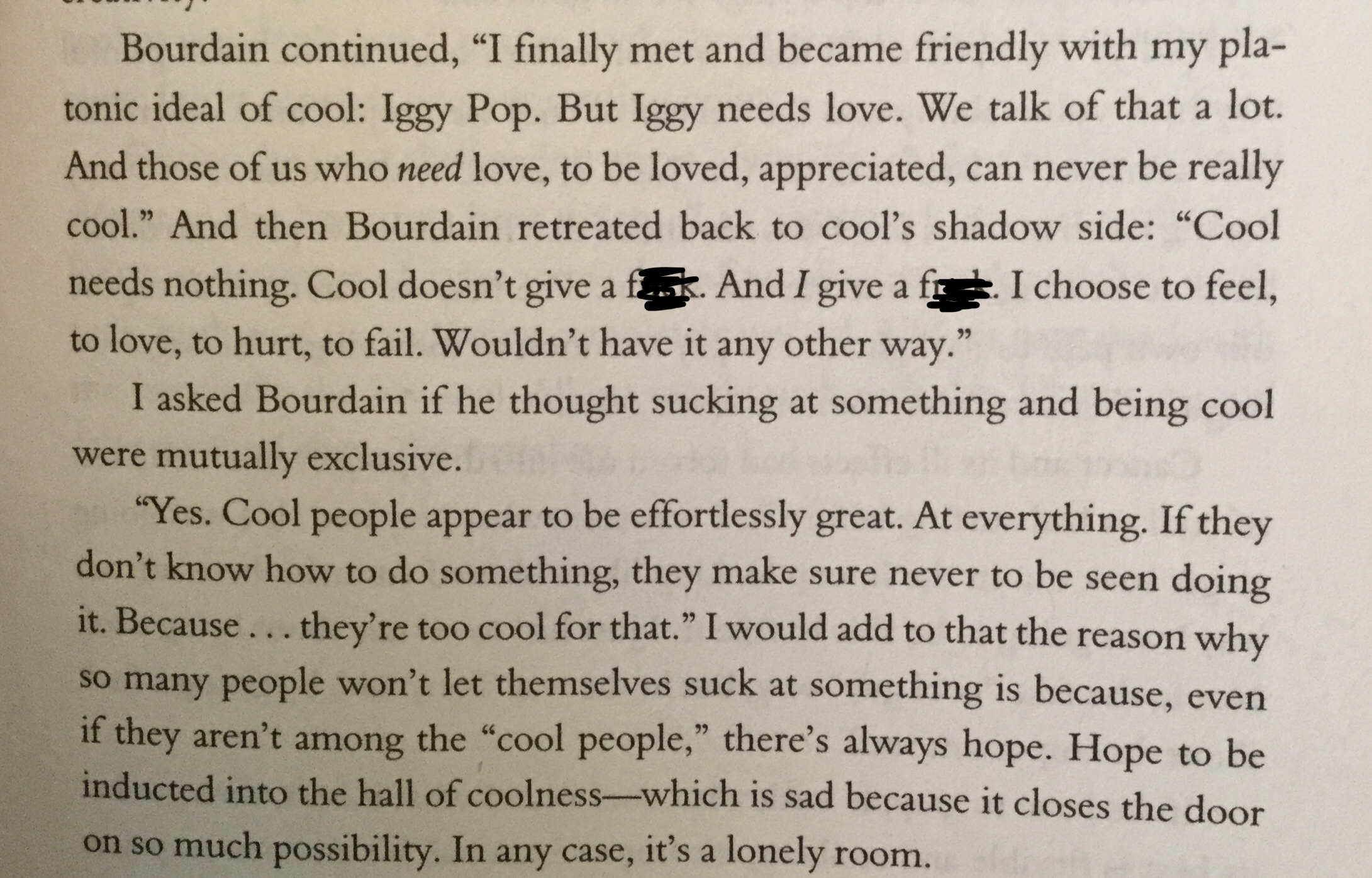"Bourdain on ""cool"" (1)"