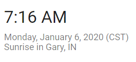 January 6 Sunrise