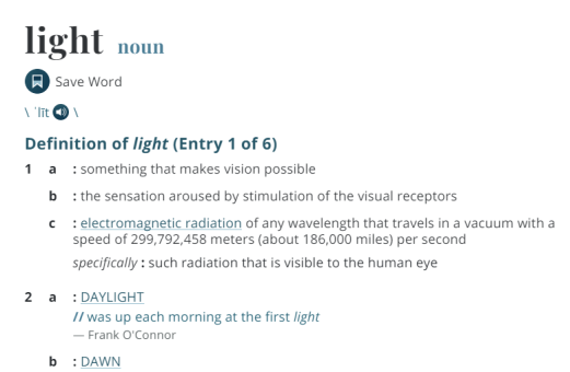 Light Definition